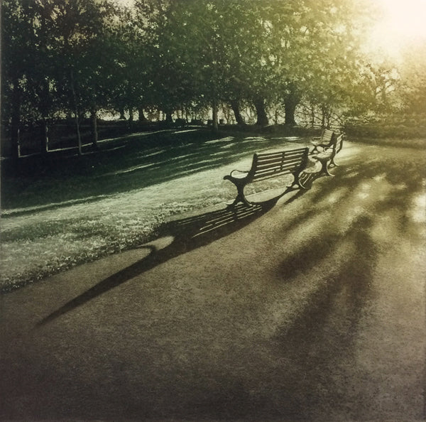 Anja Percival. Etching: Park Light II