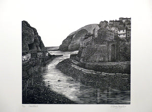 Hilary Paynter Wood Engraving: Staithes