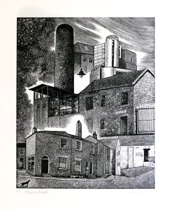 Hilary Paynter Wood Engraving: Stepney Bank