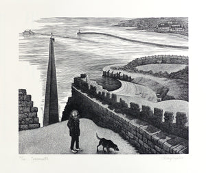 Hilary Paynter Wood Engraving: Tynemouth