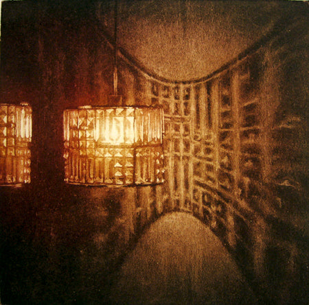 Anja Percival. Etching: Crystal Light VII