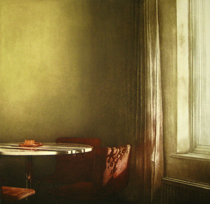 Anja Percival. Etching: Dusk Light IV