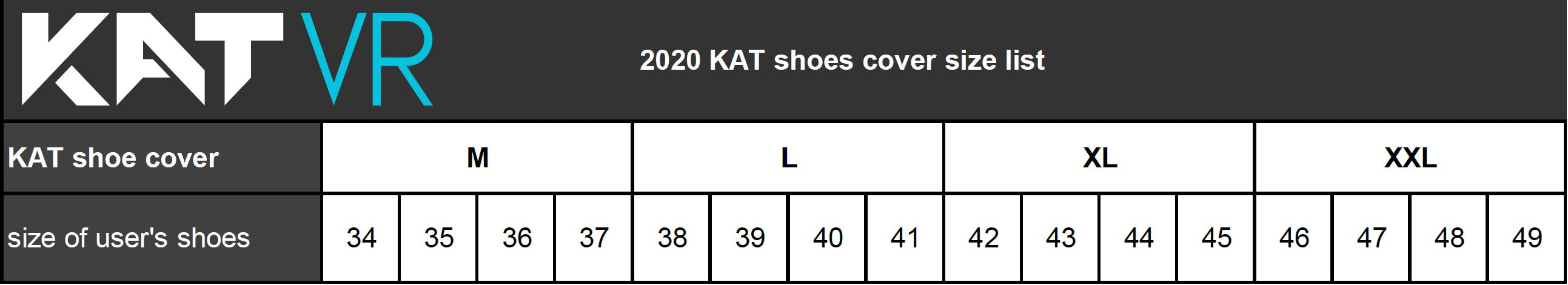 Kat Walk Mini shoe cover sizes