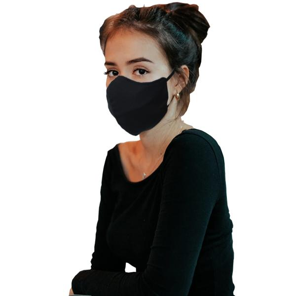 3 Layers Washable Beak Face Masks - Black ( 3 Masks Pack)