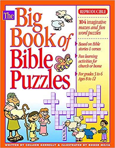 The Big Book of Bible Puzzles (Big Books) Paperback - Colleen Kennelly
