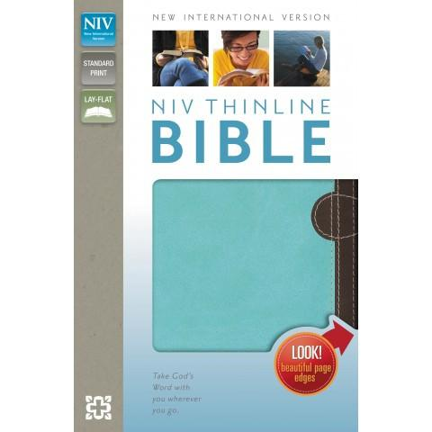 NIV Thinline Bible Two Tone Chocolate/Turquoise (Two Tone) Speciality Bible