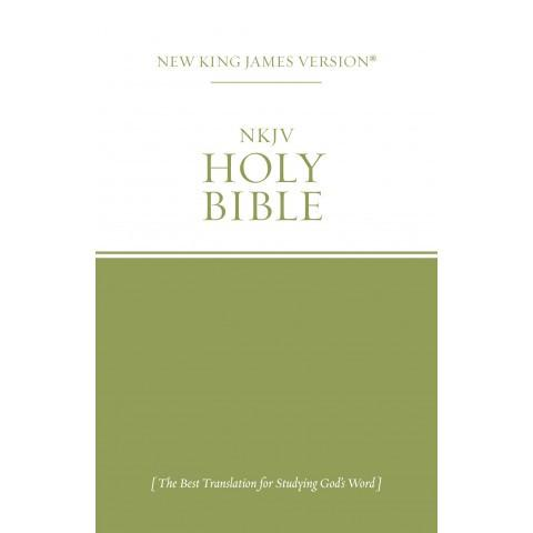 NKJV Economy Bible (Green & White) (Paperback)