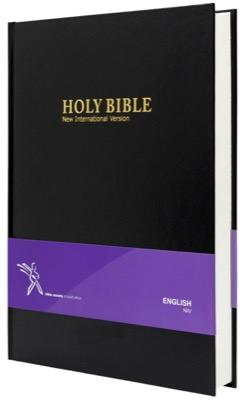 NIV Bible, large print, black (Hardcover)