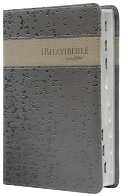 ISIXHOSA 1996 STD Bible, duotone Grey flexcover, silver-edged, thumb index