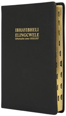 IsiZulu 1959 Complete Bible, medium size, black genuine leather, gilt-edged, thumb index
