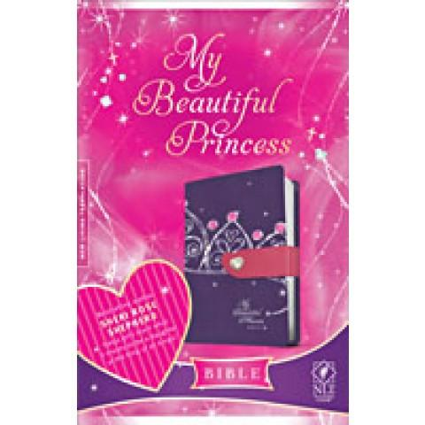 NLT My Beautiful Princess Tt Purple Crown/Pink/Heart Clos (Two Tone) Speciality Bible