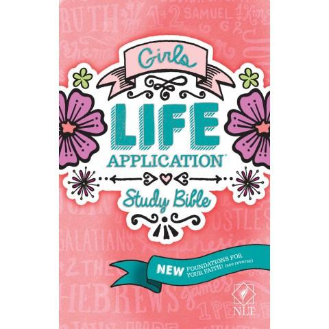 NLT Girls Life Application Study Bible (Paperback)