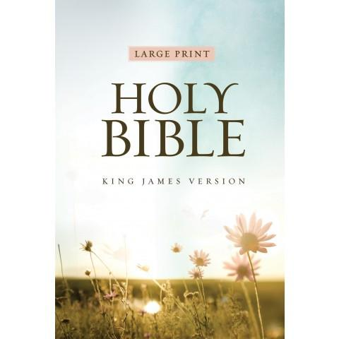 KJV Large Print Edition Flower (Softcover) Large Print Bible