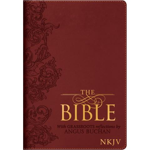 The Bible With Grassroots Reflections Thumb Indexing (Luxleather) Angus Buchan