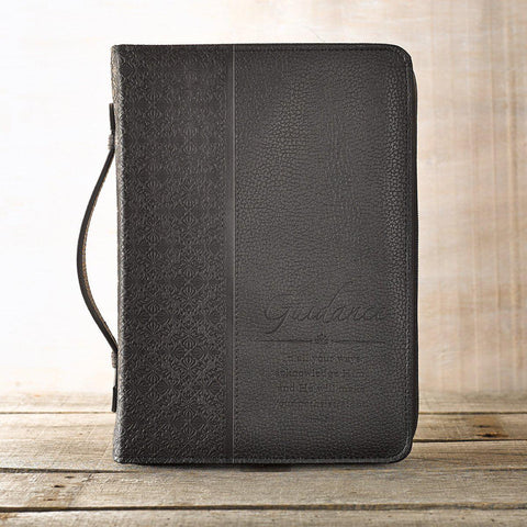 GUIDANCE LUXLEATHER BIBLE COVER IN BLACK - New Chapter Bookstore