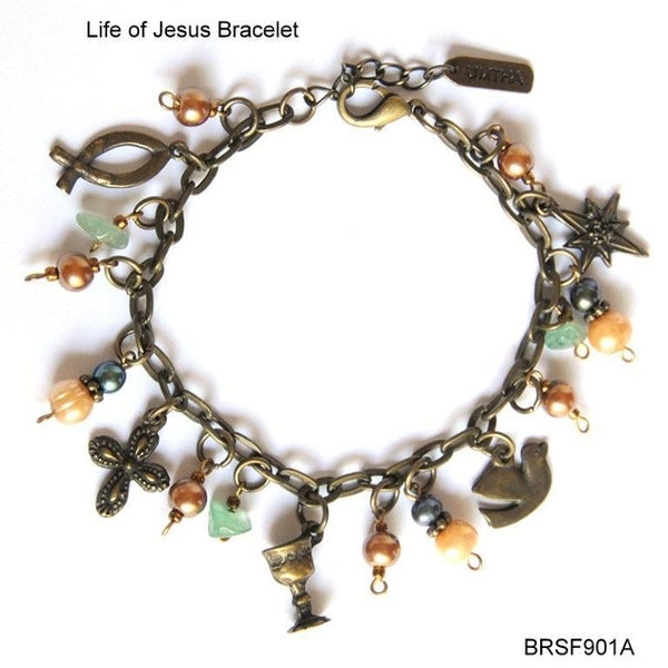 Mixed Colours Charm bracelet - Life of Jesus