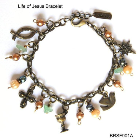 AB Life of Jesus - mixed colours Charm bracelet