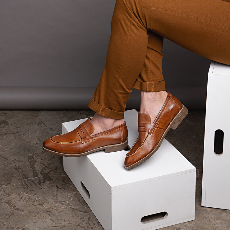 Murray Tan Penny Loafer - Sandro Moscoloni