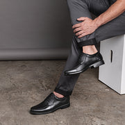 Sandro Moscoloni Belmont Bicycle Toe Black Leather Derby - Sandro Moscoloni