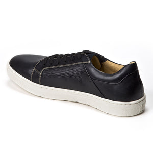 Nico Black Leather Fashion Sneaker - Sandro Moscoloni