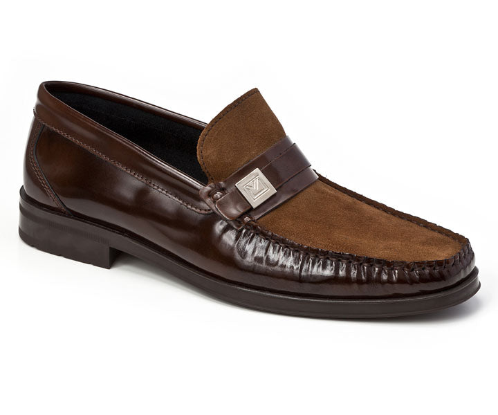 Sandro Moscoloni Avila Spanish Brown Leather Loafer - Sandro Moscoloni