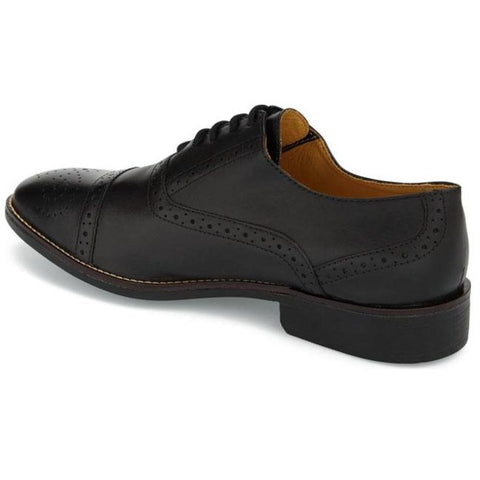 Barrett Black Leather Derby