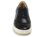 Sandro Moscoloni Cassius Black Leather Side-Zip Sneakers - Sandro Moscoloni