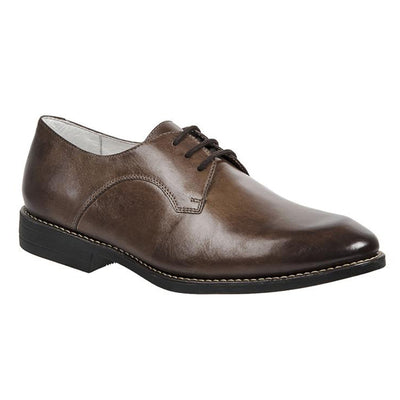 Forte Brown Three eyelet plain toe oxford