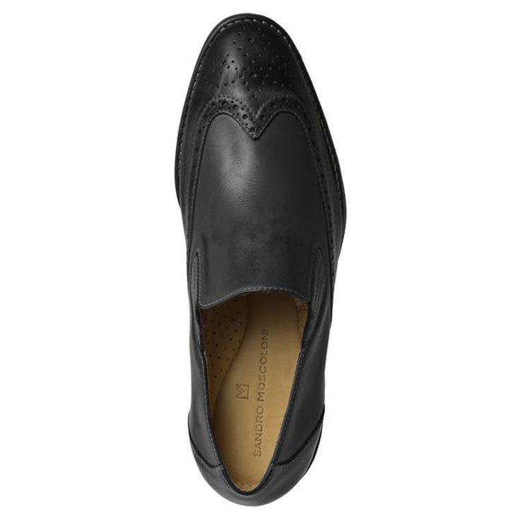 Sandro Moscoloni Black wing tip slip on - Sandro Moscoloni
