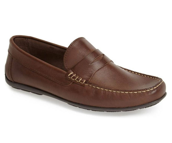 Sandro Moscoloni Paris Spanish Brown Penny Loafer - Sandro Moscoloni