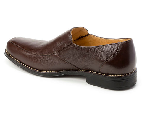 Renzo Brown Leather Venetian Loafer