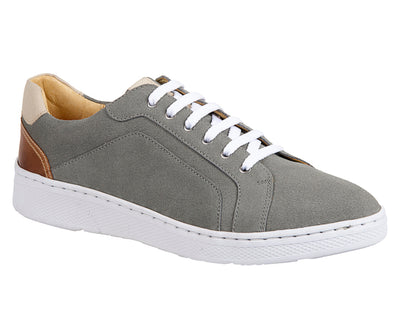 Trendy Grey Plain Toe 6 Eyelet Sneaker