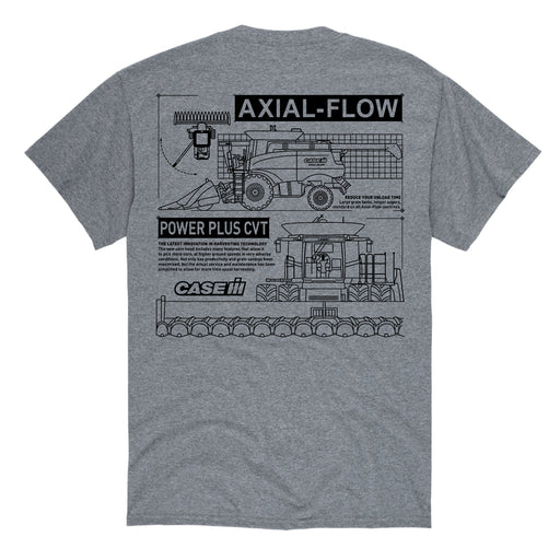 Axial Flow Diagram - Men's Short Sleeve T-Shirt