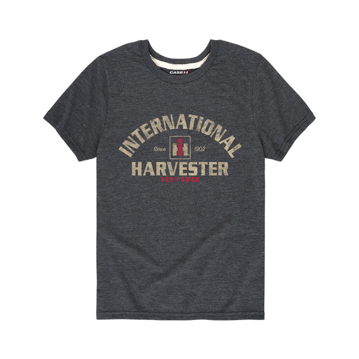 IH 1468 V8 - Youth T-Shirt - Heather Charcoal