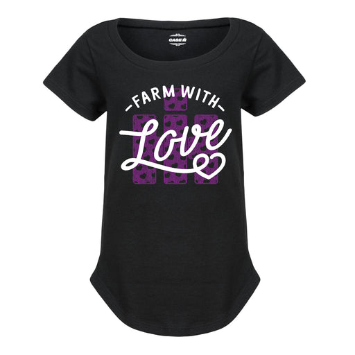 Toddler Girls Curved Hem T-Shirt