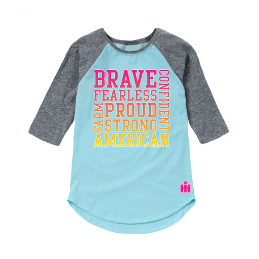 Youth Girl Short Raglan