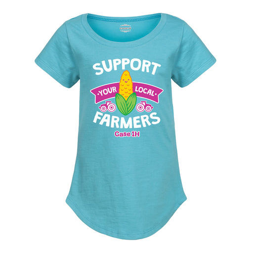 Case IH™ Support Your Local Farmers  - Toddler Girl Short Sleeve T-Shirt