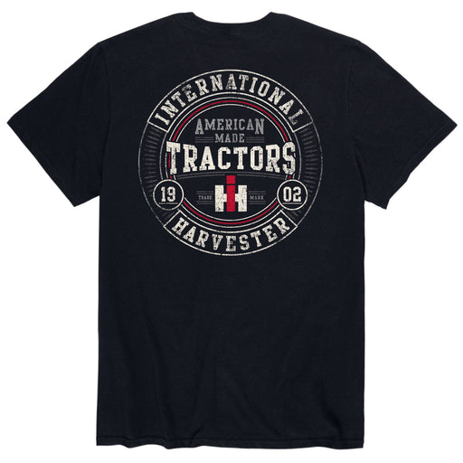 American Made Tractors Round - Men's Short Sleeve T-Shirt