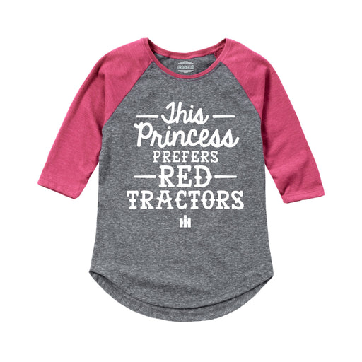 International Harvester™ - This Princess Prefers Red Tractors - Toddler Girl Raglan