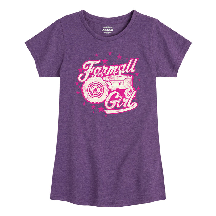 Farmall™ - McCormick Farmall Silhouette - Youth & Toddler Girls Short Sleeve T-Shirt