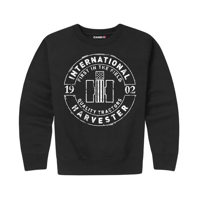 International Harvester™ First In The Field Stamp - Youth Crewneck Fleece