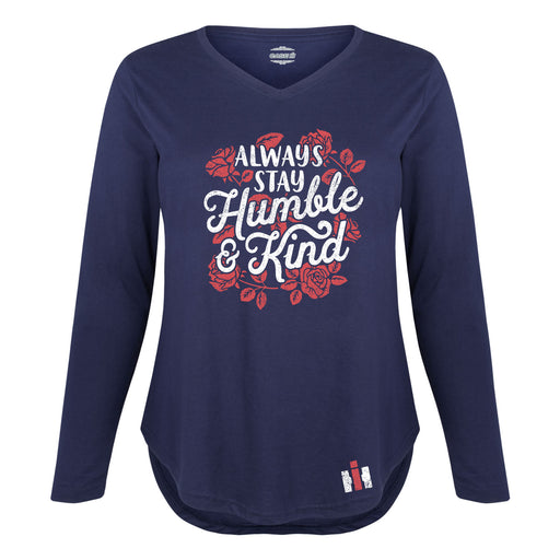 International Harvester™ Always Stay Humble And Kind - Women's Plus, New Size Long Sleeve T-Shirt