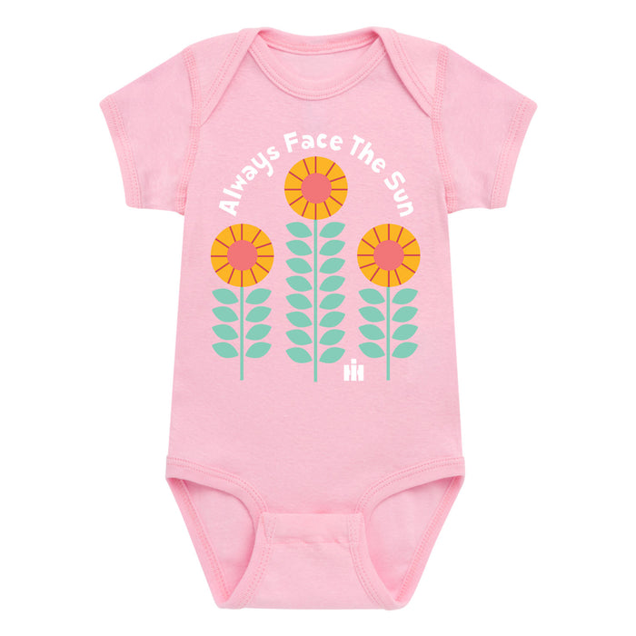 Always Face The Sun Sunflowers  - Infant One Piece