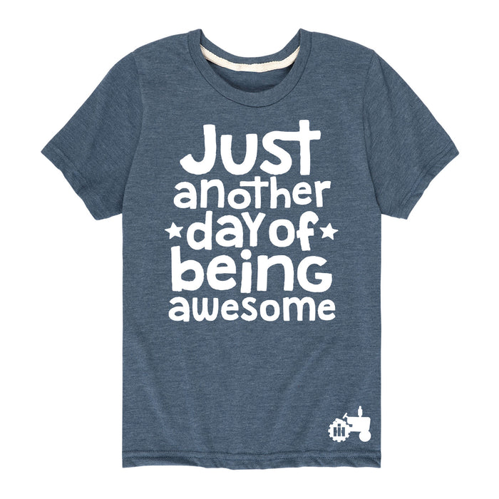 Just Another Day Being Awesome International Harvester™-Toddler Short Sleeve T-Shirt