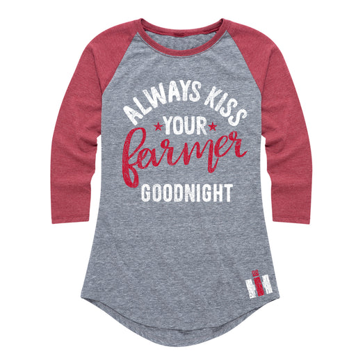 Always Kiss Your Farmer Goodnight - Women's Raglan