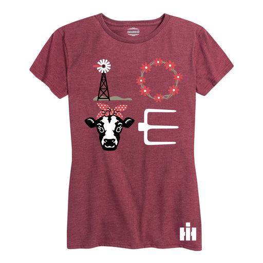 LOVE Cow Icons International Harvester™ - Women's Short Sleeve T-Shirt