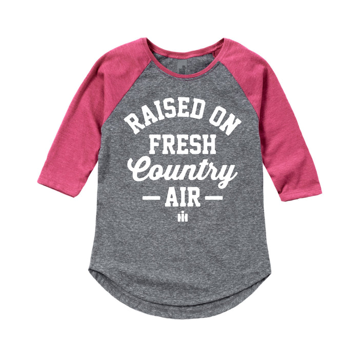 Raised On Fresh Country Air  International Harvester™-Toddler Girl Raglan