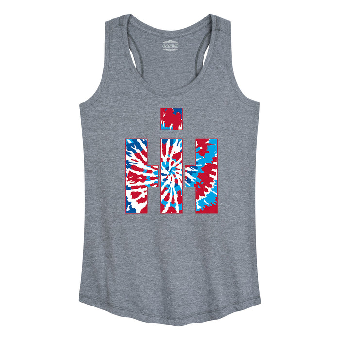 International Harvester™ - Red White Blue Tie Dye - Women's Racerback Tank