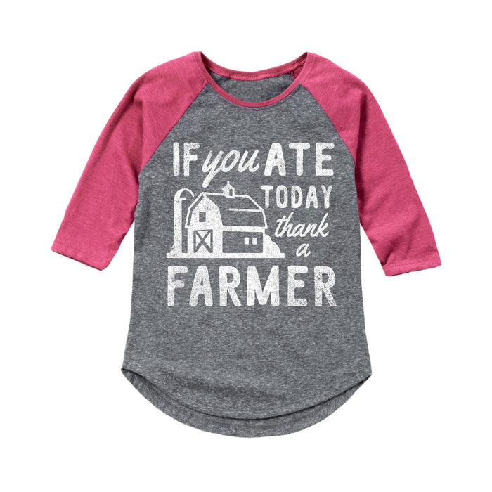 If You Ate Today - Toddler Girl  Raglan