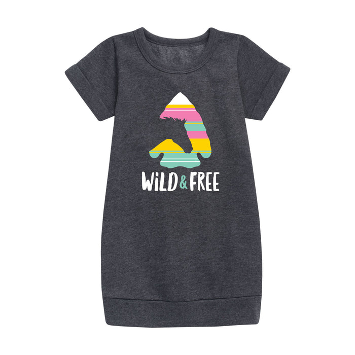 Wild and Free - Youth & Toddler Fleece Dress